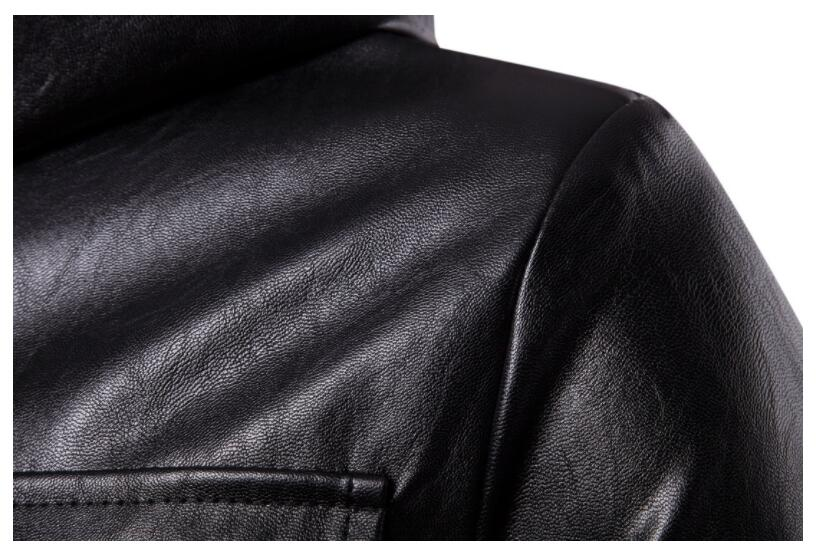 mens leather jacket slim motorcycle long leather coat men jackets clothes personalized street fashion black autumn winter - 4