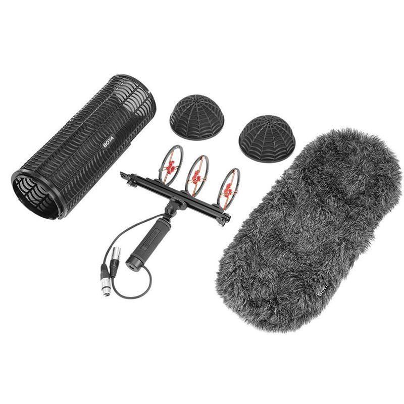 Boya By-Ws1000 blimp pára & suspensão para microfones gaiola lidar com amortecedor vento camisola cabo mic