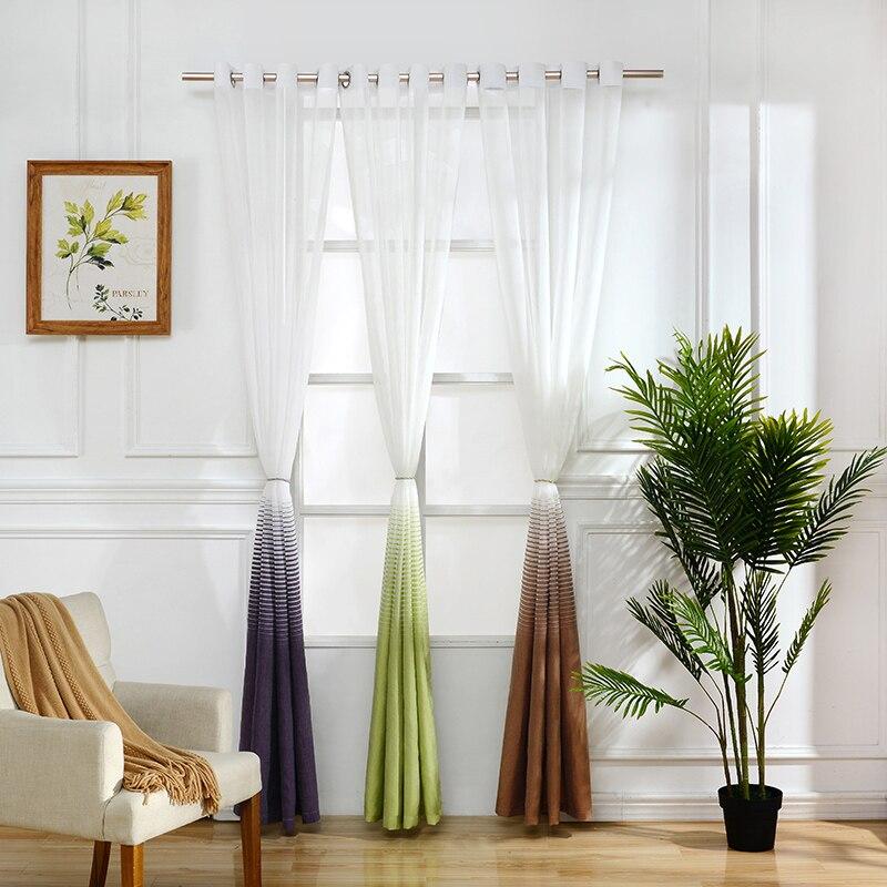 strisce orizzontali tulle per soggiorno finestra tende per bambini ... - Tende A Strisce Moderne