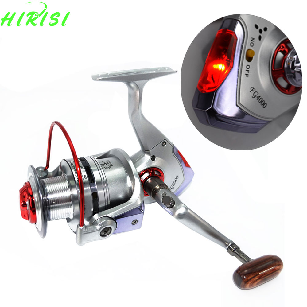 Spinning fishing reel 8 1bb with led intelligent alarm for Automatic fishing reel