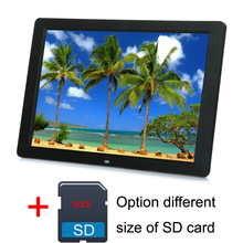 15 Polegada Tela de LCD Retroiluminação LED HD 1280*800 Digital Photo Frame Album Picture Frame Mp3 Mp4 512 MB 2 GB 4 GB 8 GB Cartão SD leitor