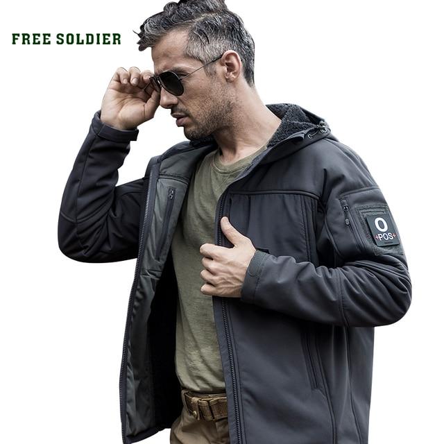 FREE SOLDIER На Открытом Воздухе кемпинга походы тактические мягкой оболочки пальто ветра whisper теплый водонепроницаемый куртка
