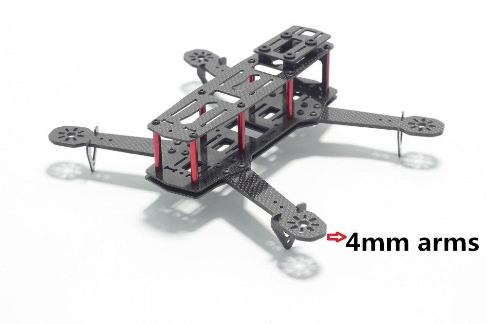 H250 Zmr250 Carbon Fiber 250mm Diatone Blade 250 Fpv Qav R 250 Mini Quadcopter Frame Kit 4 Axis