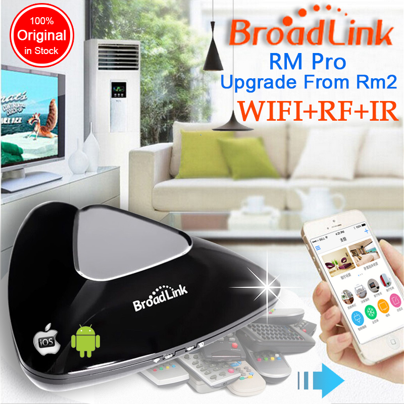 imágenes para 2017 Broadlink RM Pro RM03, Inteligente domótica WIFI + IR + Universal RF interruptor de control remoto Inteligente para iphone IOS Android