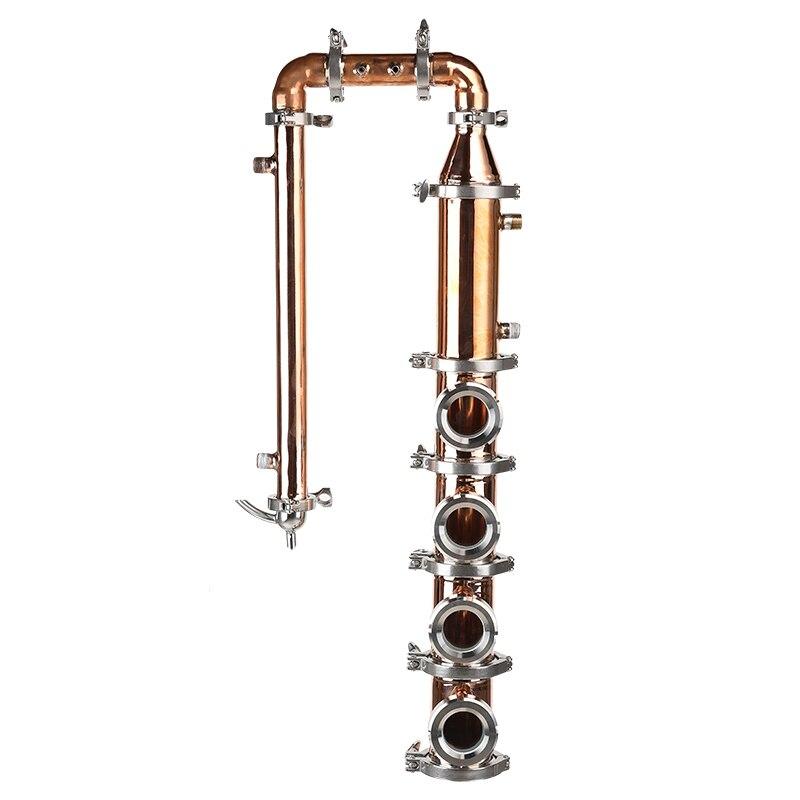 Maison Distillateur. Colonne en cuivre de 3 . 4 pièces cuivre bulle plaques. Meilleure gnôie.