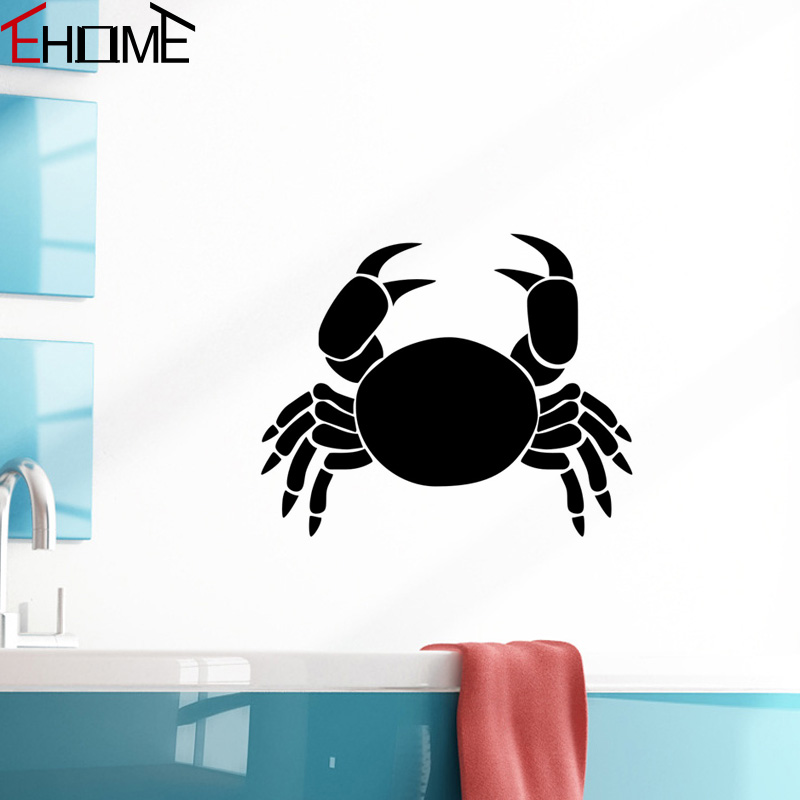 Ehome ocean animals crab wall stickers for bathroom wall for E home com