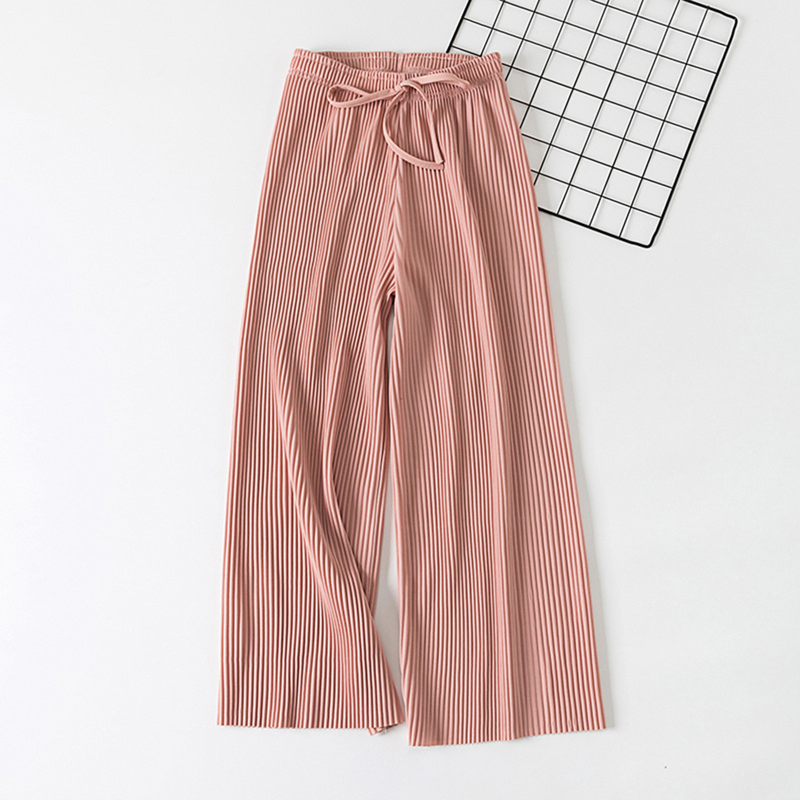 Korean Style   Wide     Leg     Pants   Women Version Of The Wild Nine   Pants   Loose Casual Female Summer High Waist   Pants