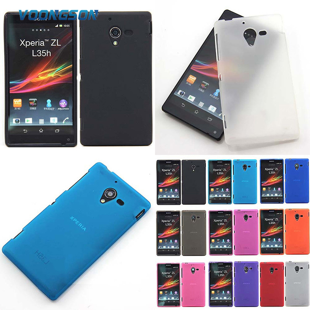 VOONGSON TPU Silicone Gel Case Cover For Sony Xperia ZL L35h L35a C6506 C6502 C6503 Cell Phone Protective Cover Bags Matte