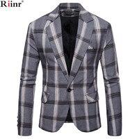 Riinr Brand Autumn Men Casual Blazer Suit Mens Cotton Suit Jacket Slim Fit Men's Classic Smart Casual Blazer For Male