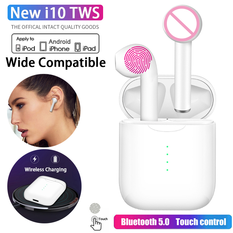 Original <font><b>i10</b></font> <font><b>tws</b></font> Wireless Headphones Air <font><b>Bluetooth</b></font> Earphone Auriculares Earbuds Headset Touch control For iPhone Samsung Xiaomi image