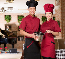Newest Chefs Coats Hotel Restaurant Coffee Shop Unisex Chef Women Short Sleeve Uniform Clothing Free Shipping