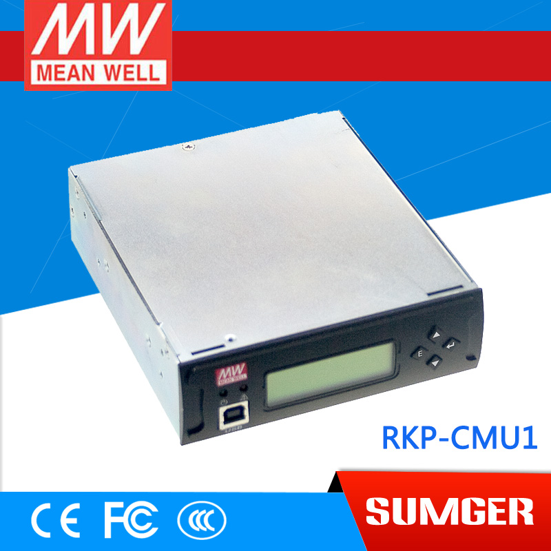 1MEAN WELL original RKP-CMU1 meanwell RKP-CMU1 1U Rack Mountable Control and Monitor Unit [powernex] mean well original rkp 6k1ui cmu1 24 24v 240a meanwell rkp 6k1ui 24v 5760w front end power system ac inlet