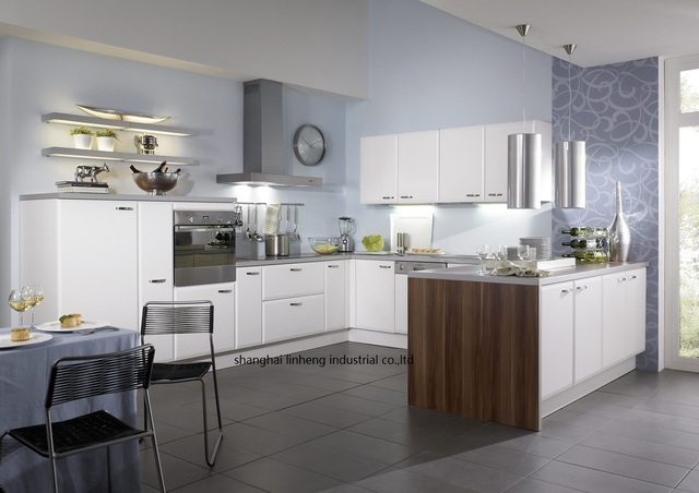 high gloss lacquer kitchen cabinets | High gloss/lacquer kitchen cabinet mordern(LH LA085)-in ...