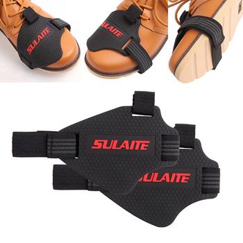 Uniwersalny motocykl antypoślizgowa dźwignia zmiany biegów buta Boot Scuff Protector Moto odporne na zużycie gumowe skarpety Pad etui akcesoria tanie i dobre opinie Buty Ochrony Mężczyźni Kobiety Unisex Moto shoes Motorcyle boots Free Size Polyester Nylon Non-slip protection
