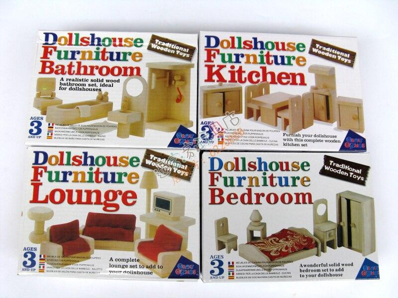 Juguetes de madera tradicionales Mini Muebles de madera Juguete Casa - Juguetes clásicos - foto 6