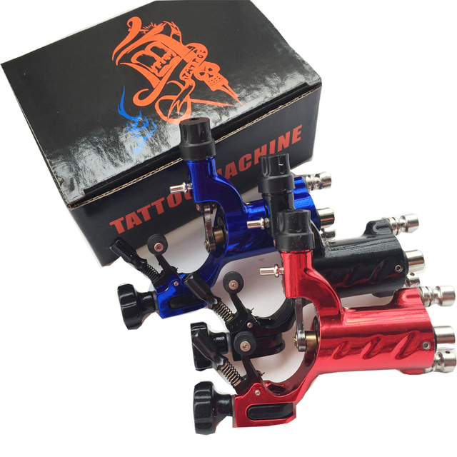 3PCS Dragonfly Rotary Tattoo Machine Professional Assorted Tatoo Swiss Motor Gun Kits Supply For Artists