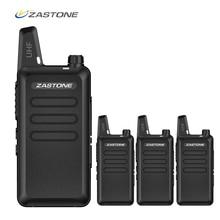 4 pces/6 pces/8 pces zastone x6 portátil walkie talkie uhf 400 470mhz rádio presunto handheld mini rádio cb comunicador transceptor amador