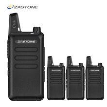 4 stks/6 stks/8 stks Zastone X6 Draagbare Walkie Talkie UHF 400 470 mhz Ham Radio handheld Mini CB Radio Comunicador Transceiver Amador