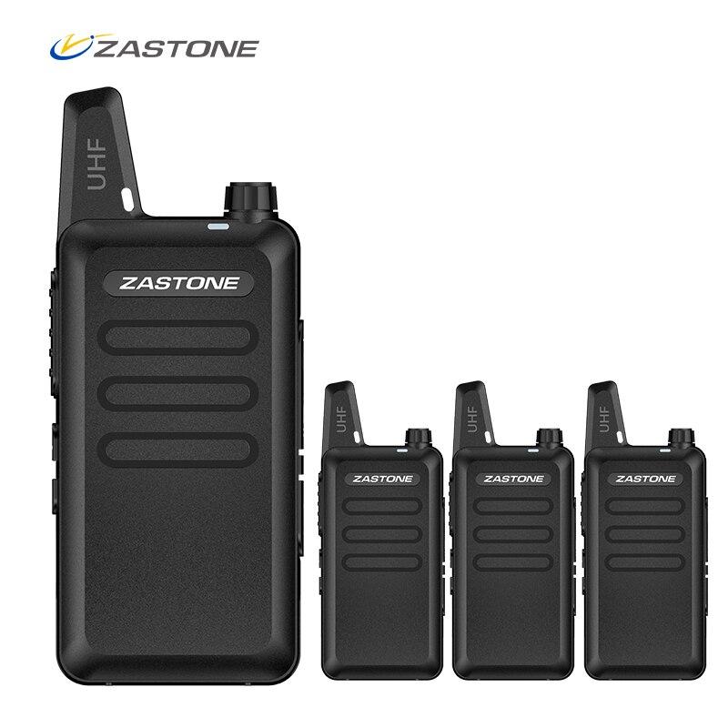 4pcs/6pcs/8pcs Zastone X6 Portable Walkie Talkie UHF 400-470mhz Ham Radio Handheld Mini CB Radio Comunicador Transceiver Amador