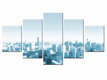 New Framde 5 pieces / set of Classic city night view wall art for decorating home Decorative painting on canvas/XC-city-80