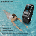 Lo nuevo smart fitness pulsera muñequera podómetro del ritmo cardíaco monitor de ip68 a prueba de agua de natación gesto despertar pk mi banda 2