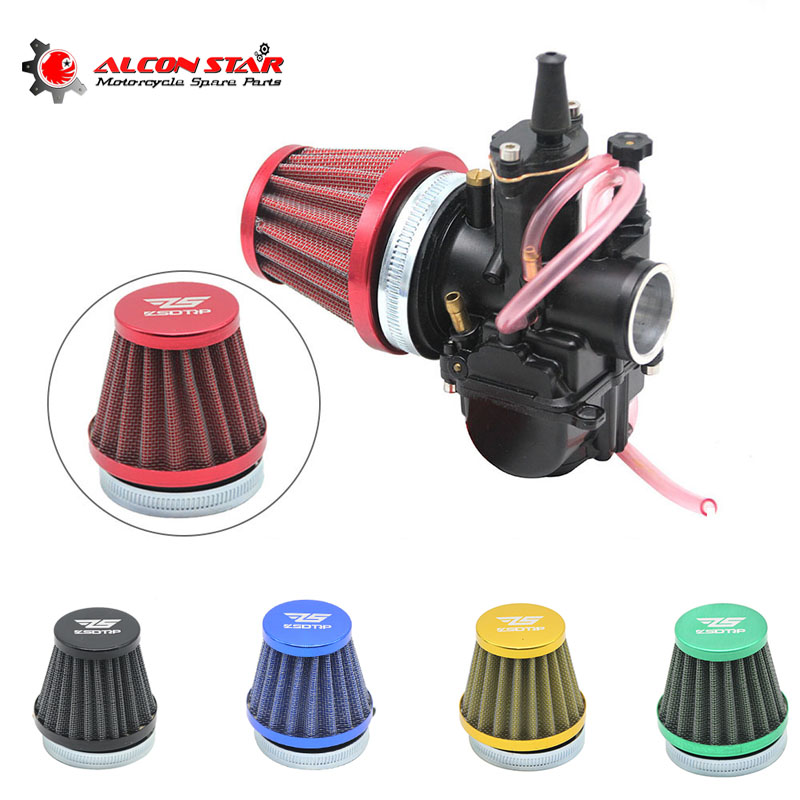 48mm Carbon Air Filter Intake Pipe for 50cc Motorcycle Dirt Bike ATV Scooter New