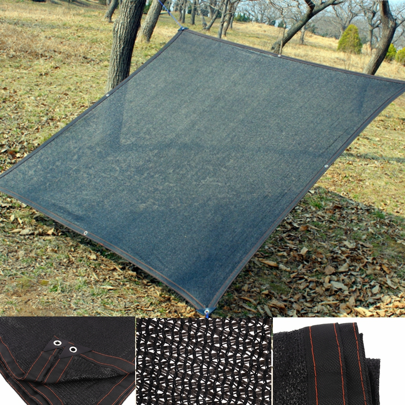 HDPE Anti-UV Sunshade Net Garden Sunscreen Sunblock Shade Balcony Courtyard Greenhouses Shading Net Cover Car Heat Insulation