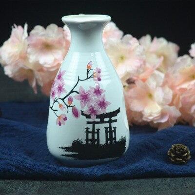 Японский ликер горшок Ретро керамика теплые емкость для ликера дистрибьютор бытовой маленькие белые вина флакон китайский barware Сакура - Цвет: 7
