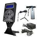 Tattoo Kits Set 1pcs Hurricane HP-2 Dual Digital LCD Tattoo Power Supply w/ 1pcs Clip Cord & 1pcs Foot Pedal 35% Off