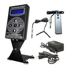 Tattoo Kits Set 1pcs Hurricane HP-2 Dual Digital LCD Tattoo Power Supply w/ 1pcs Clip Cord & 1pcs Foot Pedal 35% Off