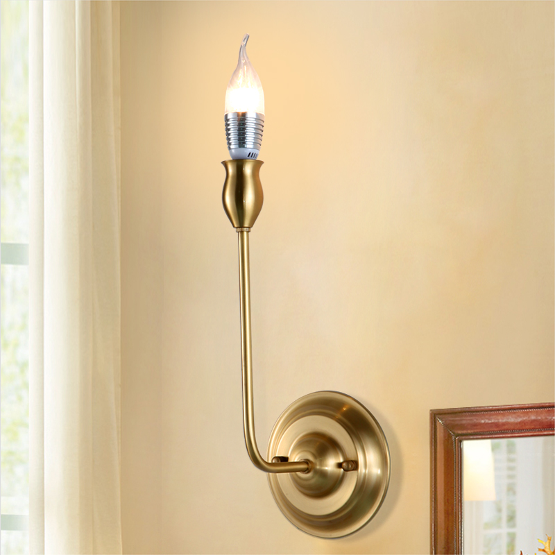 Gold Brass Copper Decorative Wall Sconces Lighting Bedroom Antique