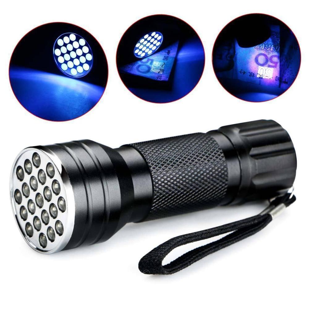 21 LED Handheld Ultraviole Flashlights Portable Waterproof Uv Torch For Camping Hiking Climbing