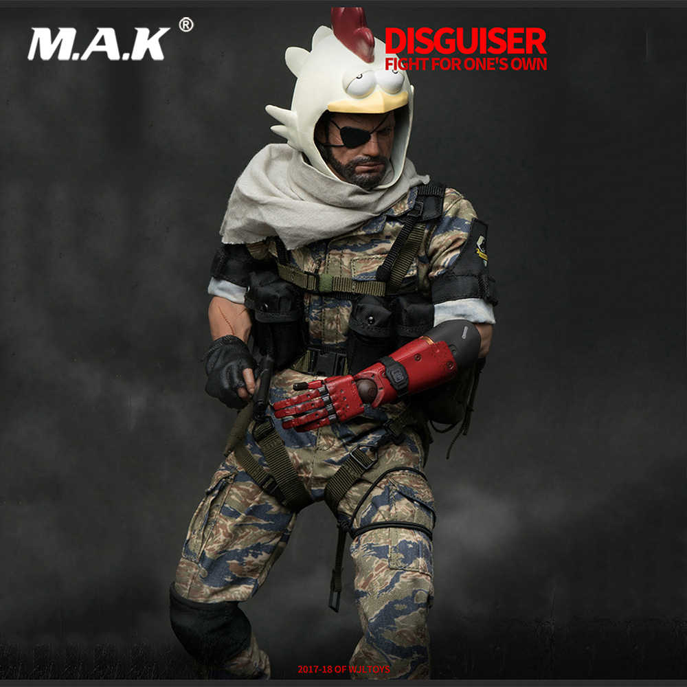 For Collection 1 6 Scale Collectible Full Set Old Naked Snake Solider Disguiser Big Boss Metal Gear Solid 5 Model For Fans Gifts