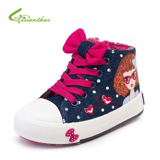 Invierno Zapatos de Lona Del Niño Zapatillas Niños Zapatillas Antideslizantes Zapatillas Blanco Niñas Ocasionales Cómodos Zapatos de Deporte de Tamaño 25-37