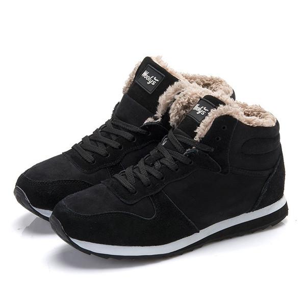 2016 Mulheres Da Moda Botas de Neve de Inverno manter Botas Quentes de Pelúcia Ankle boot Sapatos de Trabalho das Mulheres amantes do Ar Livre Botas de Neve unissex 36-48