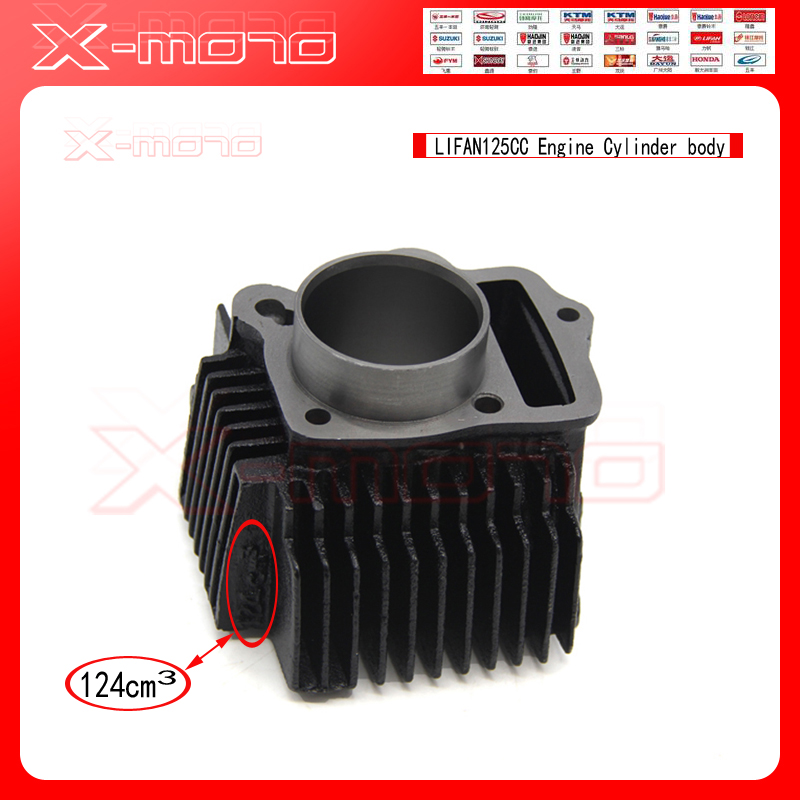 LIFAN125 125CC Engine Cylinder Body In 52.40MM Engine Parts DIRT BIKE