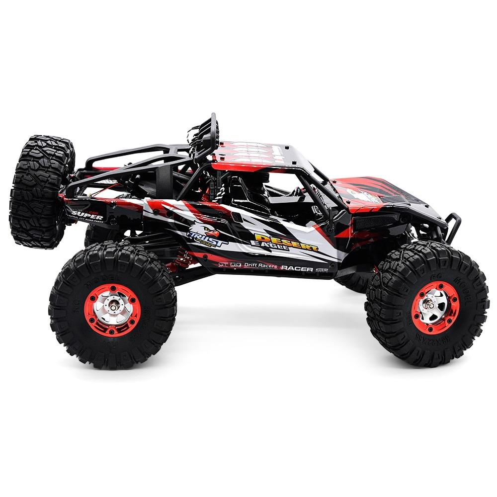Venta caliente RC coche fuera de carretera desierto coche de Control remoto 1:12 RTR 2,4 GHz modelo de monstruo coche 4CH 4WD regalos de juguetes para vehículos con orugas de roca - 5