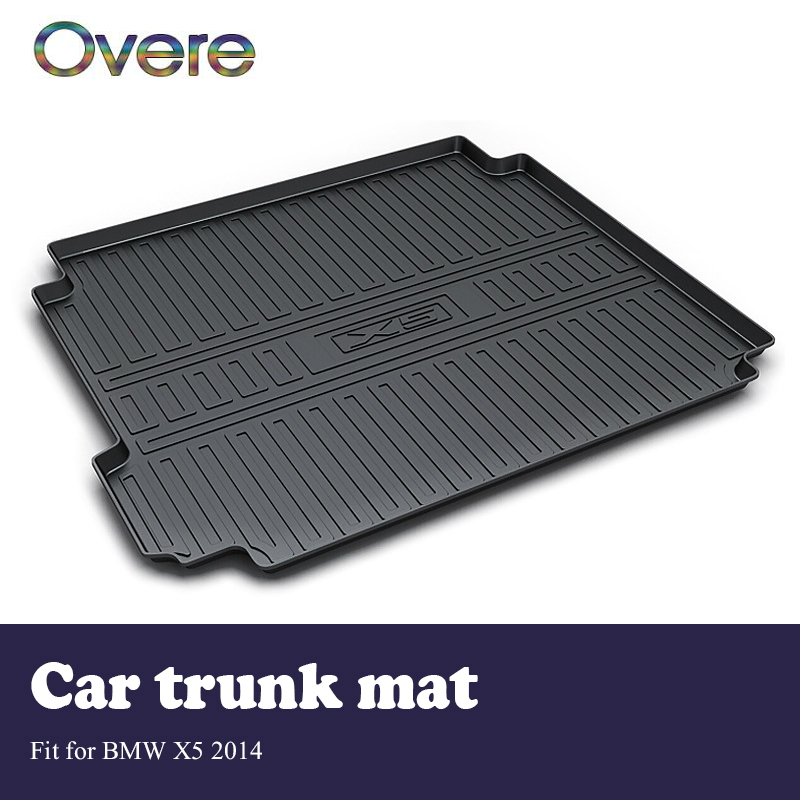 Overe 1Set Car Cargo rear trunk mat For BMW X5 F15 2014 Car-styling Boot Liner Tray Anti Slip Mat Waterproof cover Accessories цена