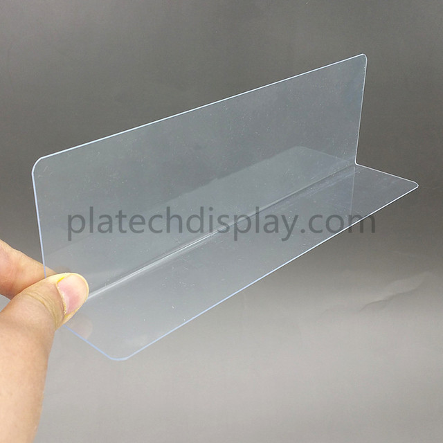 Full Kinds Plastic PVC Thick 0.8mm Clear Storage Rack Shelf Dividers Side Splitter Holder In Supermarket Retail Stores 10pcs