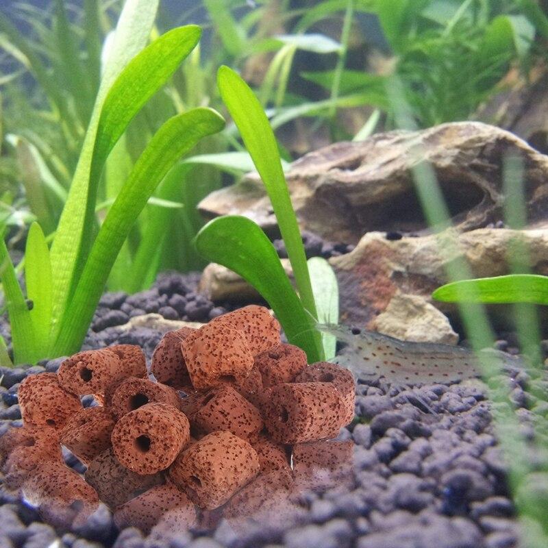 New Aquarium Ceramic Rings Biological Fish Tank Filter Bacteria Media Canister Pond