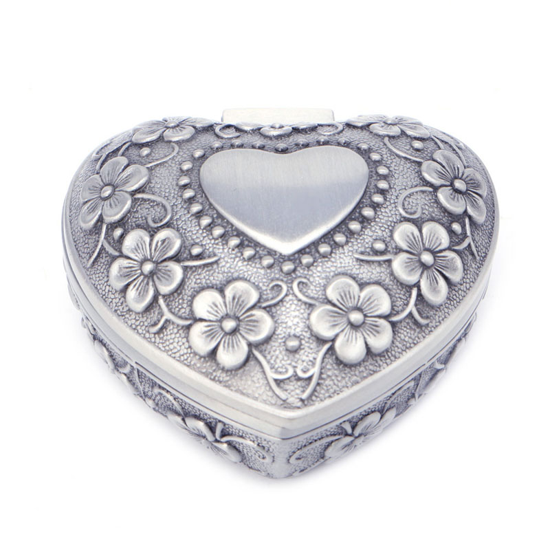 Jewelry Boxes Gift Box Heart Love Jewelry Box Antique