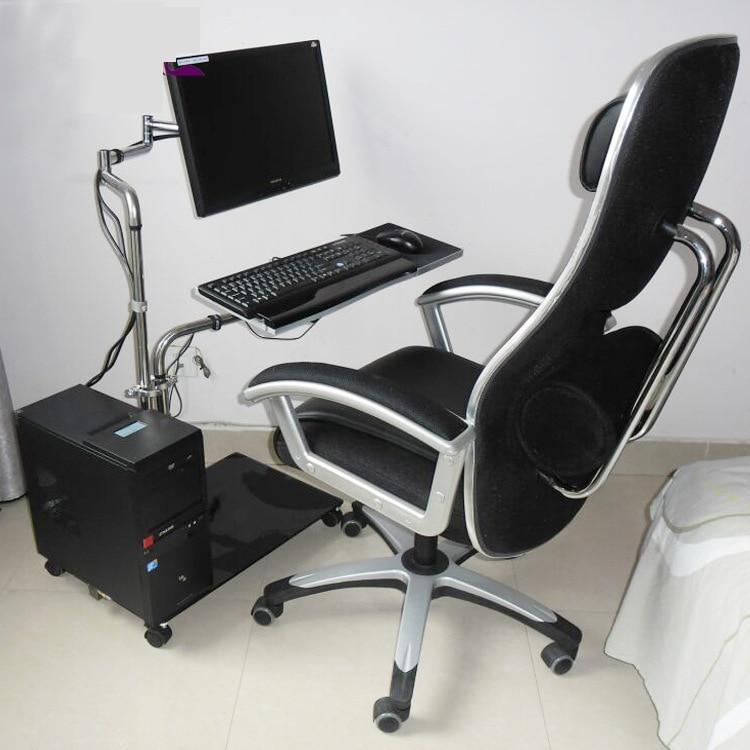 OK611 Bedside Moving Laptop Stand Adjustable Sofa Computer Monitor Holder  Mount +Keyboard Holder Rotating Laptop Table Lapdesks In Monitor Holder  From ...