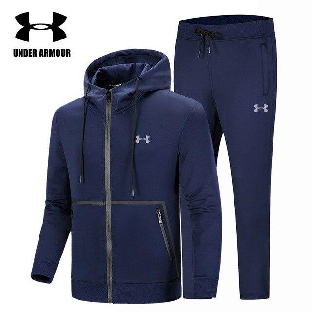 77e5bb3763b Under Armour Men Gym Clothing Jogging Training Sports Suit Men Fitness  Clothes 2 Pieces Exercise Jacket