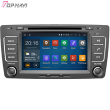 Quad Core Android 5.1 Car DVD Stereo For SKODA OCTAVIA 2013 With Mirror Link 16 GB Flash Wifi BT GPS Free Map