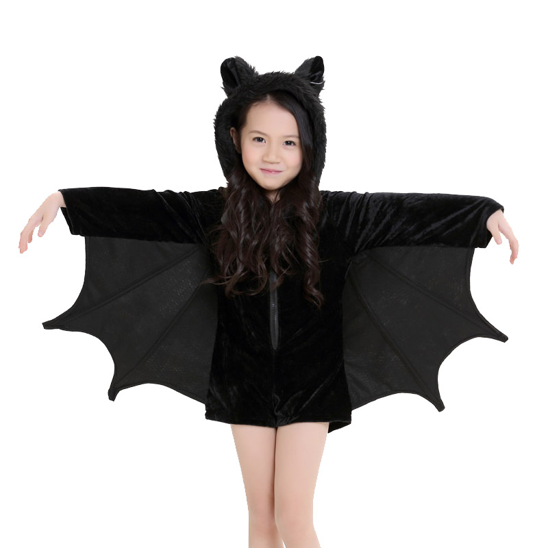 kids vampire bat costume halloween batman cosplay romper carnival black zipper bat wings children costumes on aliexpresscom alibaba group