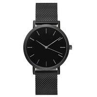 Fashion simple stylish top brand women watches stainless steel mesh strap quartz watch thin dial men.jpg 200x200