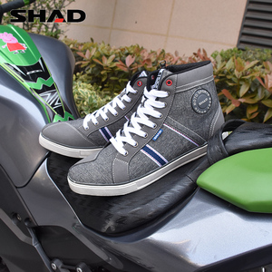 Image 4 - SHAD Fashion Casual Wear Motorbike Riding Shoes Motorcycle Boots Street Racing Boots Breathable Biker Boots