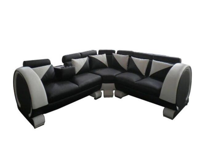 Comprar ahora Salón sofá conjunto sofá verdadera vaca cuero sofás ...