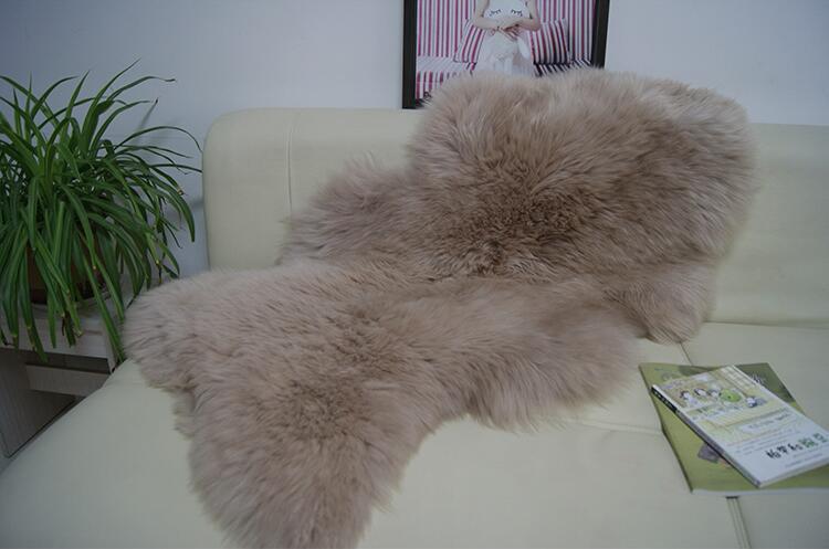 Dousha tapis en peau de mouton véritable housse de canapé coussin de chaise tapis en peau de mouton véritable tapis fabriqué à partir de tapis de chevet en laine de zélande et d'australie