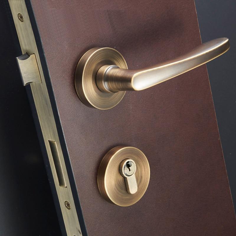 1 Set brass Door Lock European Style Retro Bedroom Door ...